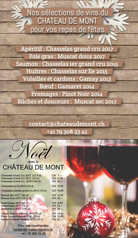 Noël avec le Château de Mont